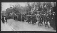 """Old Grads"" Parade before the MU vs. KU Homecoming Game, 1913"
