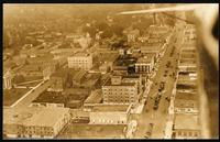 Aerial view of downtown Columbia, Missouri, 1919