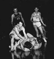 A Scuffle for the Ball During a MU Versus Oklahoma Game