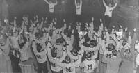 "Homecoming ""Romp, Stomp, Chomp!"" Rally in Brewer Field House, 1946"
