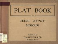 Plat Book of Boone County, Missouri