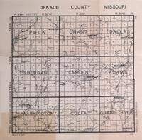 Plat Book of DeKalb County, Missouri | MU Digital Liry ... Dekalb County Map on