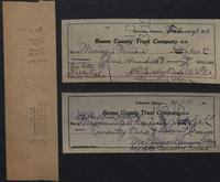 Boone County Trust Company receipts and tape
