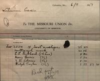 Receipt for advertising dated June 9, 1917