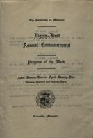 Page 207 : 1923 commencement program of the week