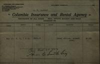 Columbia Insurance and Rental Agency receipt