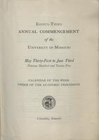 Page 231 : 1925 annual commencement calendar of the week
