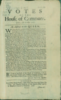 Votes of the House of Commons, Jovis 4 die Martii, 1707