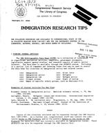 Immigration research tips