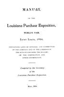 Manual of the Louisiana Purchase Exposition, World's Fair, Saint Louis, 1904