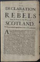 Declaration of the rebels now in arms in the west of Scotland