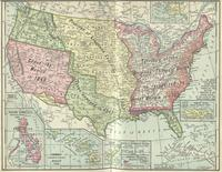 Colored map of Louisiana Purchase territory and all acquisitions