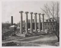 Columns after Academic Hall fire