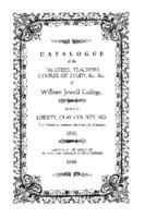 William Jewell College catalog, 1850
