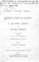 Scientiae Baccalaureus, Vol. 1, no. 1 (June 1890)