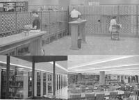 1961 - Inside the northeast addition of Ellis Library