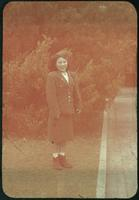 Hiller 09-073: A woman in military uniform in Nanking