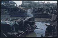 Hiller 07-079: Boats on a river, Soochow Creek