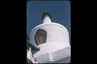 Hiller 08-067: Close-up of a white, pointed building, Peiping