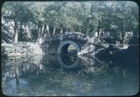 Hiller 08-126a: Stone bridge with round hole over water, Peiping, number two