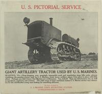 Giant artillery tractor used by U.S. Marines
