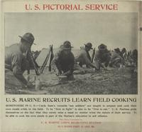 U. S. Marine recruits learn field cooking