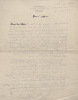Letter to Wilbert Stone from Unknown Author, back