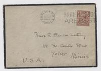 Letter from R.B. to R. Eleanor M., envelope back
