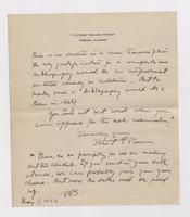 Letter to A. Francis Trams from Uknown Author, page 2