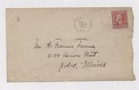 Letter to A. Francis Trams from Uknown Author, envelope back