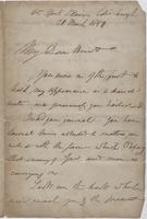 Letter to Leigh Hunt from Unknown Author