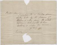 Letter to Leigh Hunt from H. B.