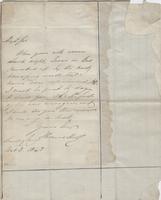 Miscellaneous Correspondence