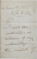 Letter to Thornton Hunt from Unknown Author