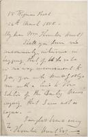 Letter to Thornton Hunt from Lewis Pelly