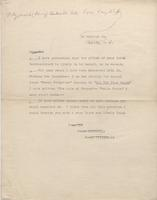 Letter from Percy Fitzgerald to Unknown Recipient [transcript]