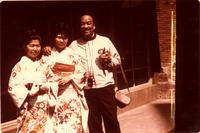 Buck with two Japanese women