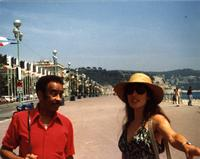 On the promenade in Nice