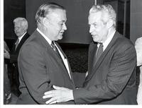 Richard Bolling with an unidentified man at a Congressional tribute