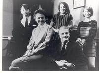 Richard Bolling sitting with his family