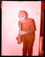 Unidentified male saxophone player