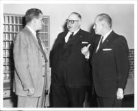 Richard Bolling with Mayor H. Roe Bartle and Postmaster Ted Bland