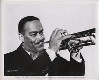 Buck playing trumpet for The Benny Goodman Story