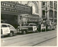 "Street promotion for the film ""Convoy"" at Esquire Theatre"