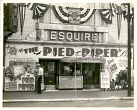 "Marquee advertising  ""The Pied Piper"" at  Esquire Theatre"