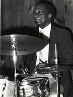 Jackie Williams playing drums