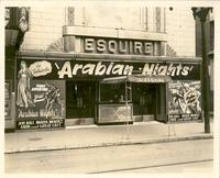 "Marquee advertising  ""Arabian Nights"" at Esquire Theatre"