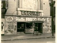 "Marquee advertising ""Hello, Frisco, Hello"" at the Esquire Theatre"