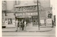 "Joseph Redmond, and three others, for world premiere of ""I Shot Jesse James"" outside the Esquire Theatre"