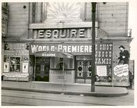 Esquire Theatre redecorated as an Old West building